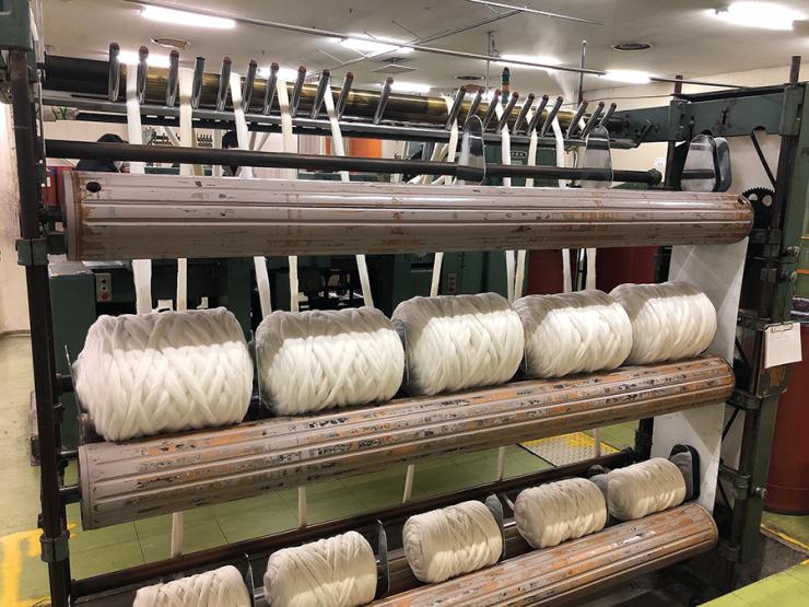 「カワボウ繊維株式会社」の紡績機