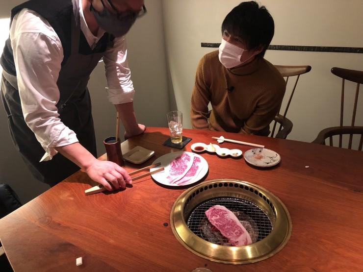 MAG!C☆PRINCEの永田薫さんが「焼肉旬やさい ファンボギ」で焼きしゃぶ